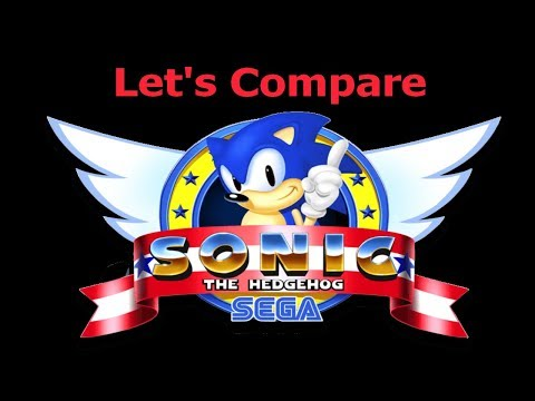 Let's Compare ( Sonic The Hedgehog )
