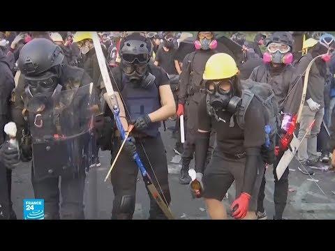 منجنيق وسهام وأقواس في مظاهرات هونغ كونغ!!  - نشر قبل 26 دقيقة
