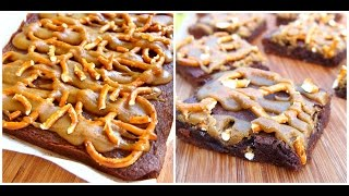 Salted Caramel Pretzel Brownies Recipe