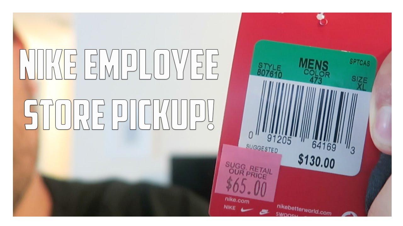 reputable site 04289 fe535 Nike Employee Store Pickup! - YouTube