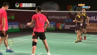 澳洲羽毛球公開賽 2015 混雙 決賽 周凱華/李晉熙 vs 劉成/包宜鑫  50FPS