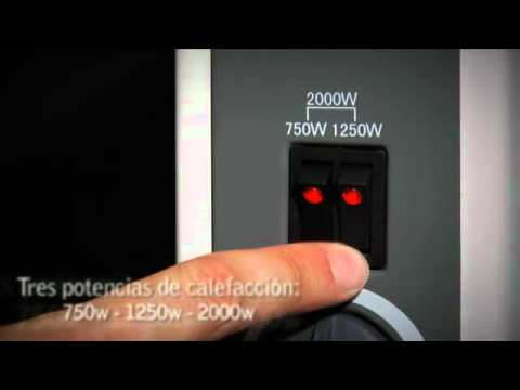Convector el ctrico m vil o mural bhc 2000 purline youtube for Convector mural