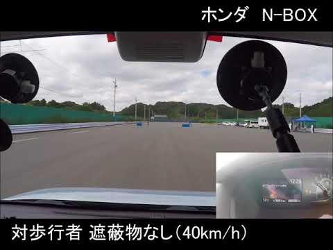 N-BOX:被害軽減ブレーキ試験 CPN40km/h
