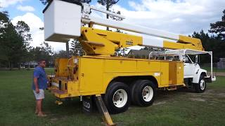 1995 Ford FT 900 F Series Teco 65 Ft Bucket Truck VIN 6592 Operating