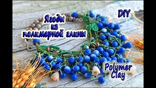 Ягоды из ПОЛИМЕРНОЙ ГЛИНЫ💙Мастер Класс💙DIY POLYMER CLAY Berries