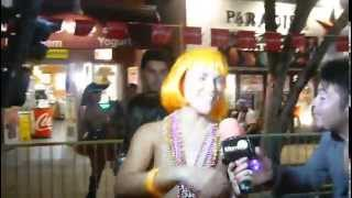 Repeat youtube video Jenny Scordamaglia, MiamiTV, in Key West, FL, Fantasy Fest, Duval Str.,10-26-2013
