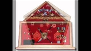 Flag Plus Medal Display Cases,