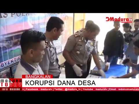 Camat Tanjung Bumi  Diciduk Polres Bangkalan Terkait Pemotongan Dana Desa MaduraTV 22 07 2016