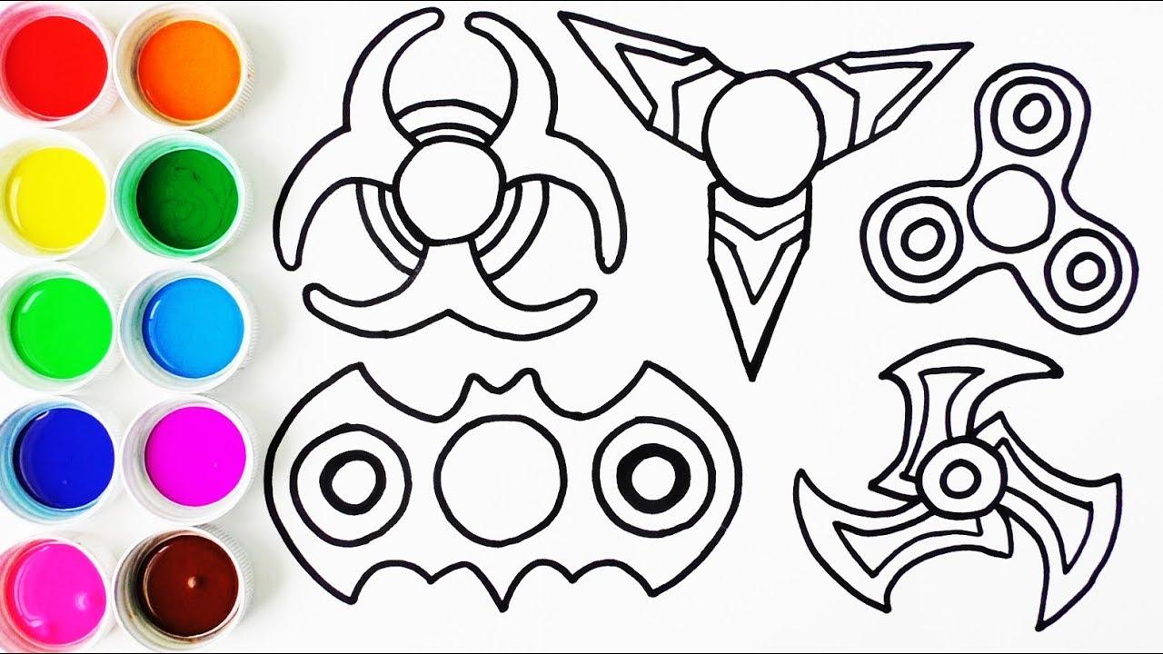 Imagenes De Niños Acostados Para Colorear: Cómo Dibujar Y Colorear Set De Spinner