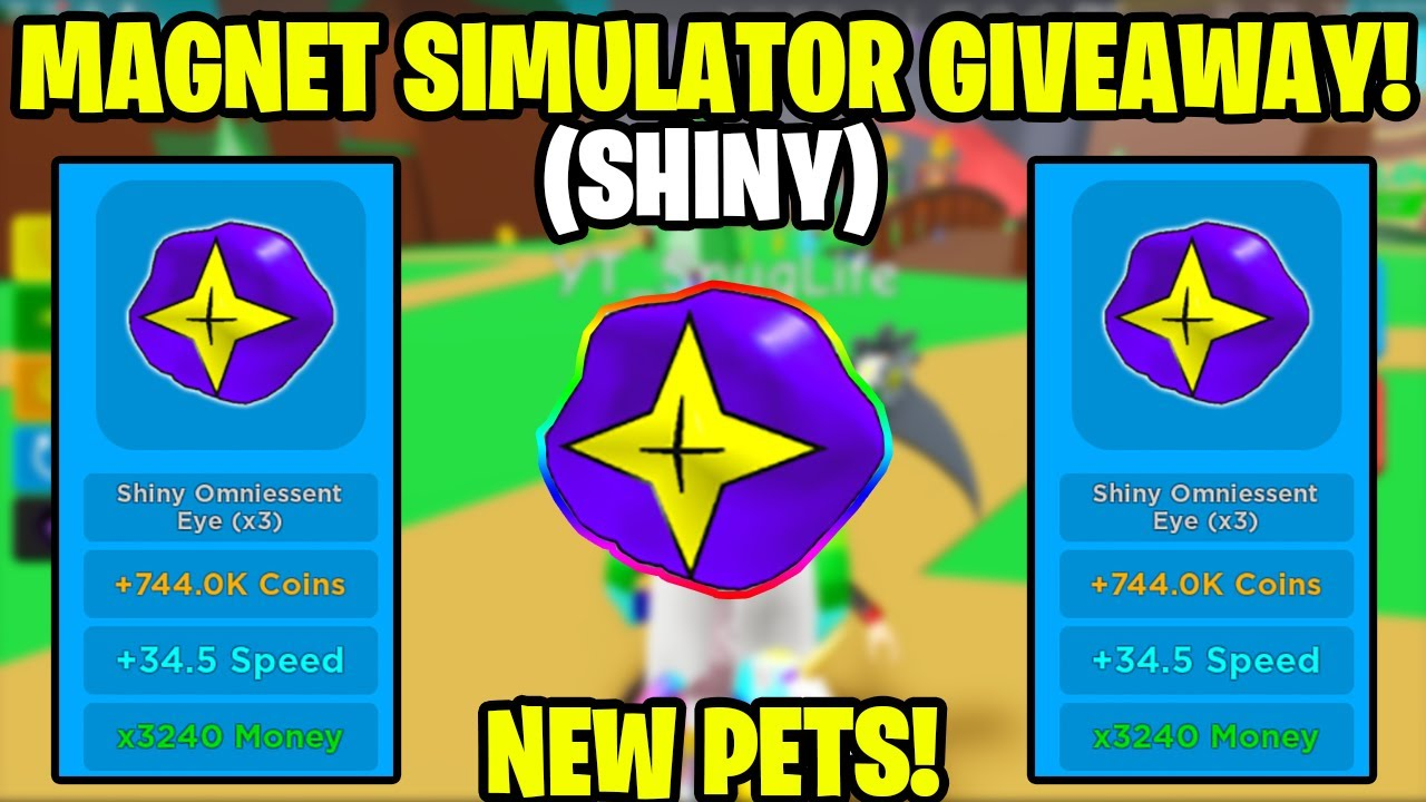Pet Simulator How To Equip More Pets With 0 Robux Magnet Simulator Omega Pet Giveaway By Mangoq