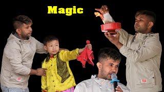 Nepali magician Kamal basnet on stage during lhosar/ जादुगर कमल बस्नेत