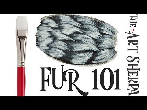 How to paint Basic  Fur with Acrylic Paint EASIER than you think 🐶🐱🎨