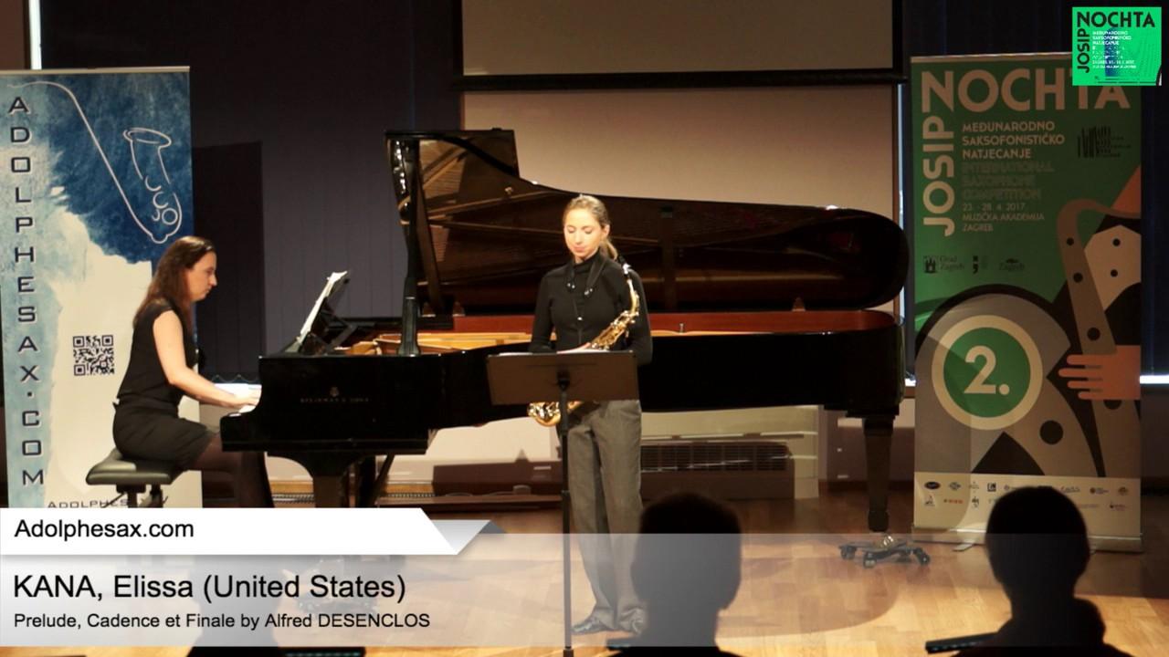 Prelude, Cadence et Finale by Alfred Desenclos – KANA, Elissa USA
