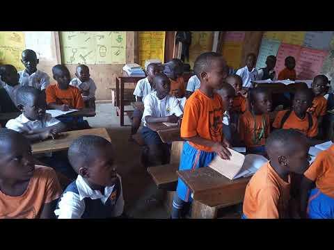 Fresh kid in classroom at st Agnes kawanda