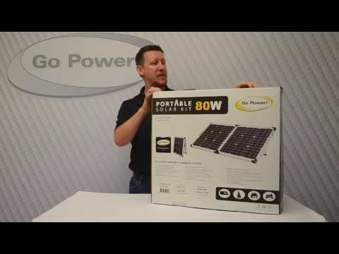 Go Power! Portable Solar Kit unboxing