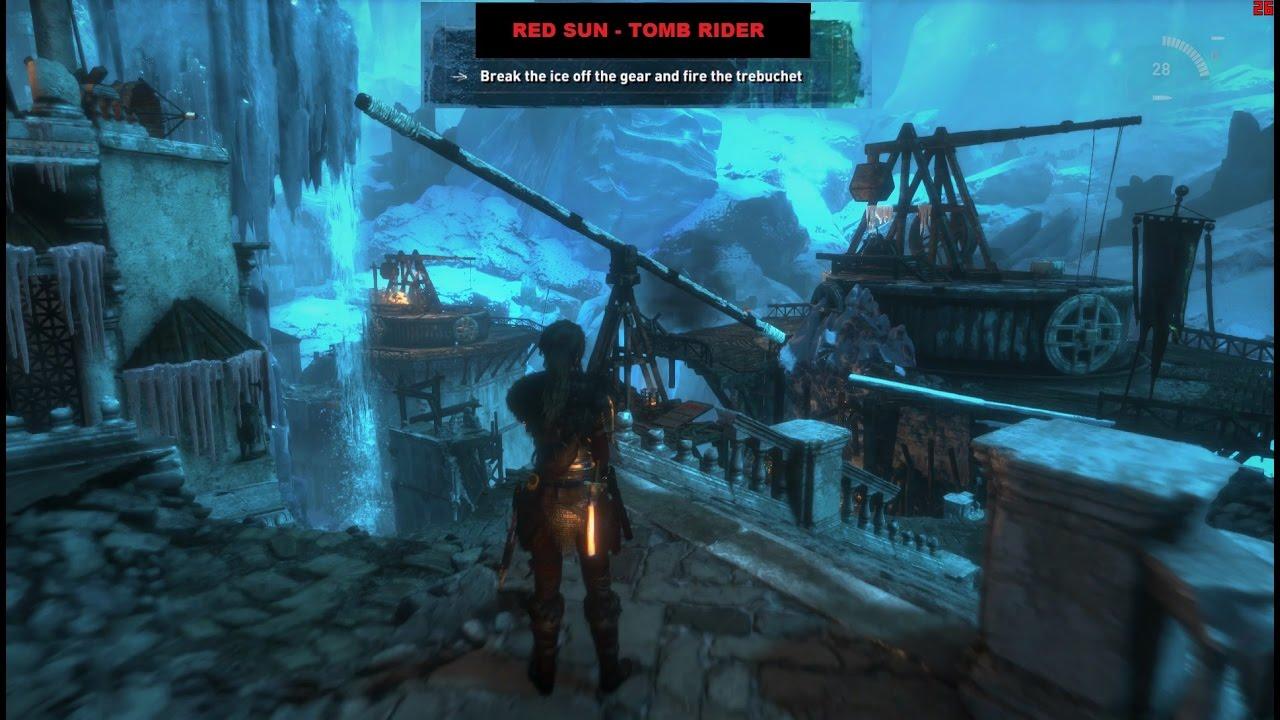 Rise of the tomb raider release frozen catapult / trebuchet / crane puzzle