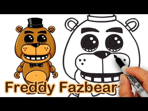 how to draw freddy fazbear from five nights at freddy s cute youtube
