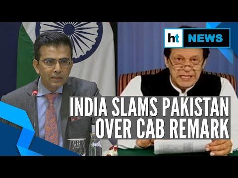 'Focus on treating your minorities well': India on Imran Khan's CAB remark