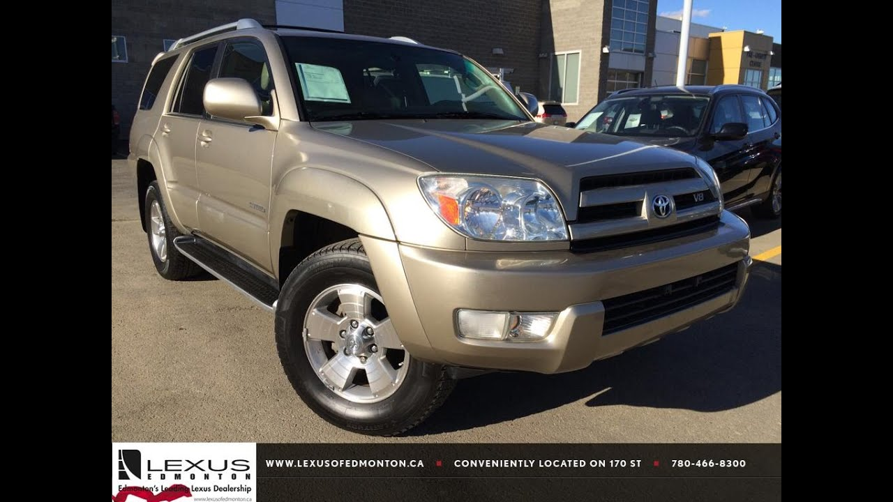 Pre Owned Gold 2004 Toyota 4runner Limited V8 4wd Review Nisku