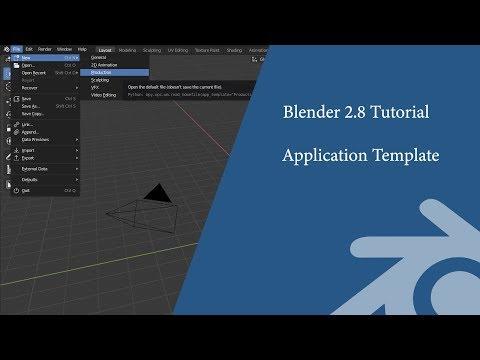 Blender 2.8 Tutorial: Create an application template thumbnail