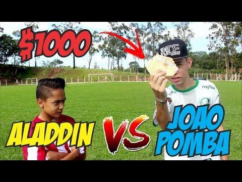 ALADDIN VS JOAO POMBA VALENDO 1000 REAIS