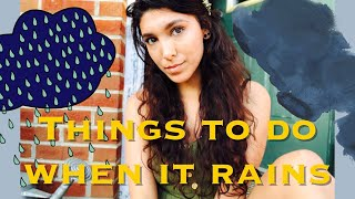 13 Things to do on a RAINY Day | Tiny Living/Adult Version