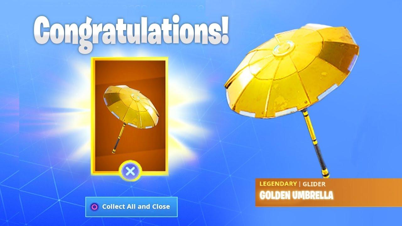 The Free Golden Umbrella In Fortnite
