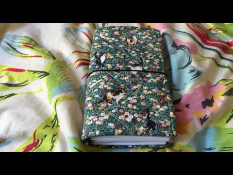 Foxtail Threads Standard Size Quilted Fabric Traveler's Notebook Set Up Video