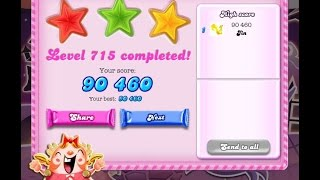 Candy Crush Saga Level 715   ★★★   NO BOOSTER