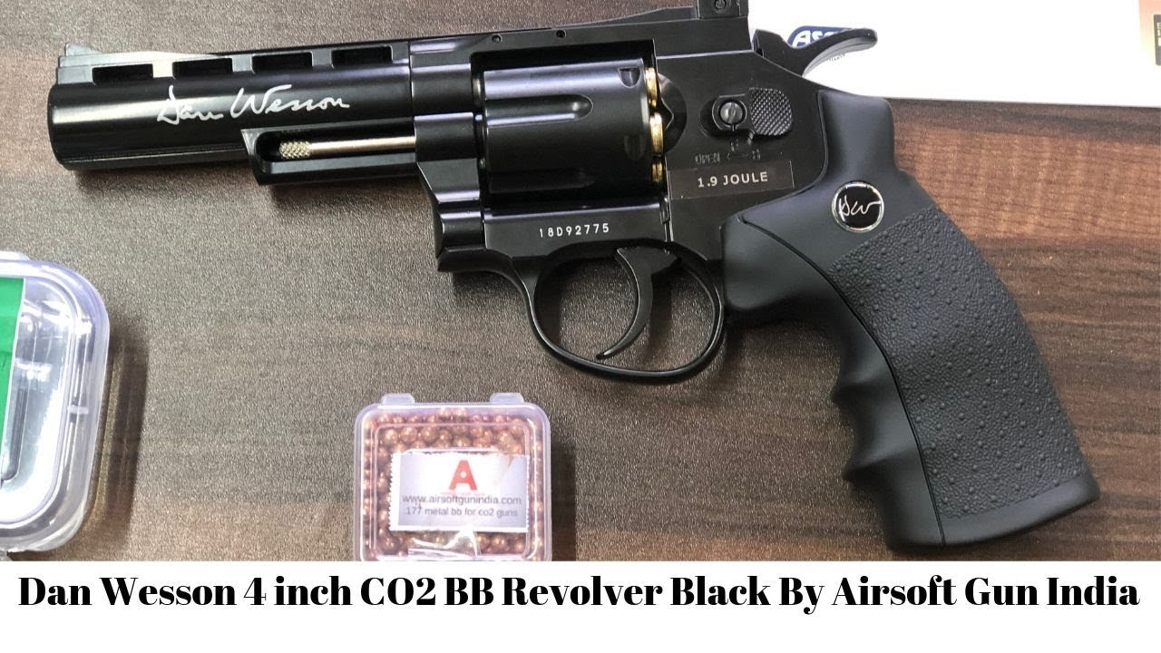 Dan Wesson 4 INCH CO2 BB Revolver Black By Airsoft Gun India back in stock