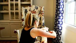 How To Reupholster A Chair Front Arm Piece Clip