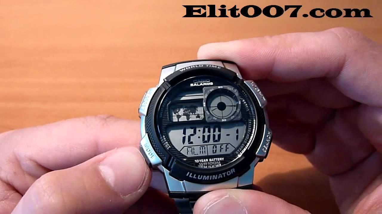 De 1000wd Hombre Ae Joyas Plata Reloj Casio – 1a USMpzqV