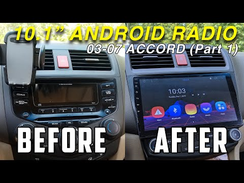 03-07 Accord Android Radio Install! (PART 1: Removal And Installation)