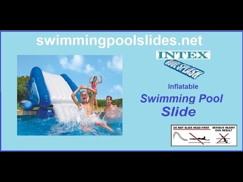 Inflatable Pool Slide Intex intex kool splash inflatable swimming pool slide - youtube