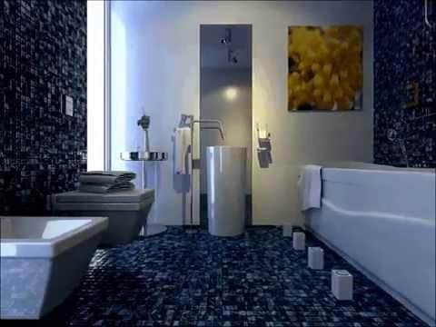Blue bath 3D design demo