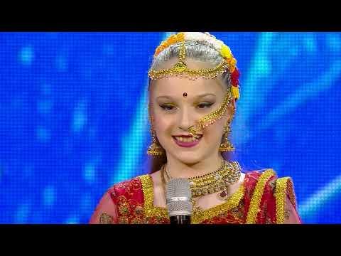 12 წლის ქრისტინეს ინდური ცეკვა | ნიჭიერი, მეხუთე გადაცემა