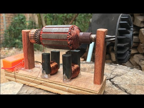 How to Electric Powerful DC Motors and Universal Rotors Work Without Magnet