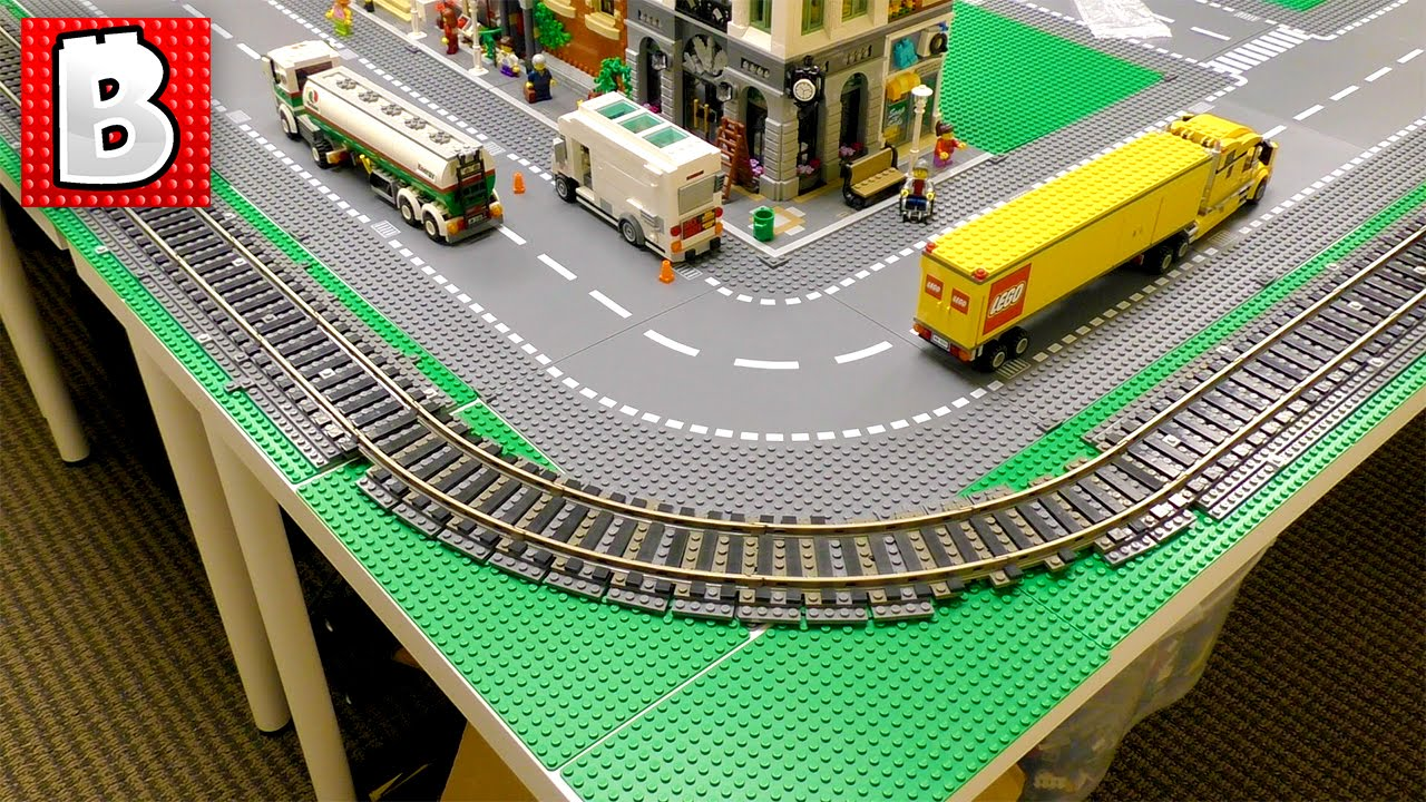 How To Build A Huge Lego Train Track For A Lego City