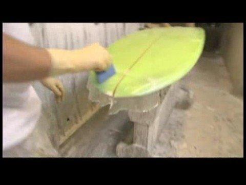Surfboard Repairs : Laminating Surfboard Nose