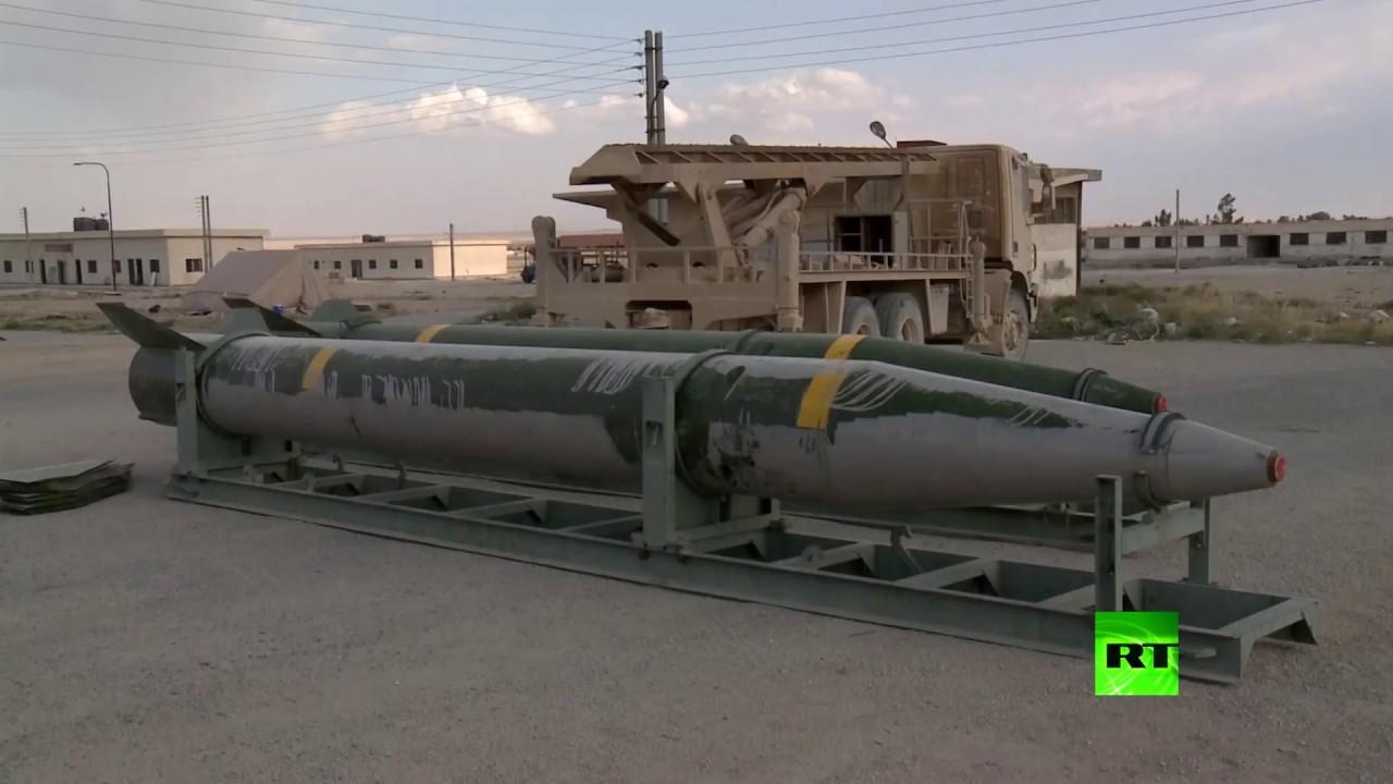 الجيش السوري يستعرض أسلحة مقاتلي الغوطة الشرقية