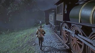 Red Dead Redemption 2 - NIGHT Train Robbery With John Marston Gameplay Mission (RDR2)