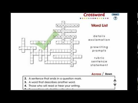 CC7104 How to Write a Paragraph: Crossword Mini