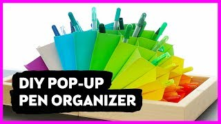 I Tried BuzzFeed Nifty's DIY Pop-Up Pen Organizer | Sea Lemon