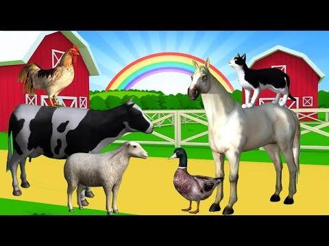 Nama Dan Suara Hewan Ternak | Suara Binatang Animasi | Pembelajaran Anak Anak