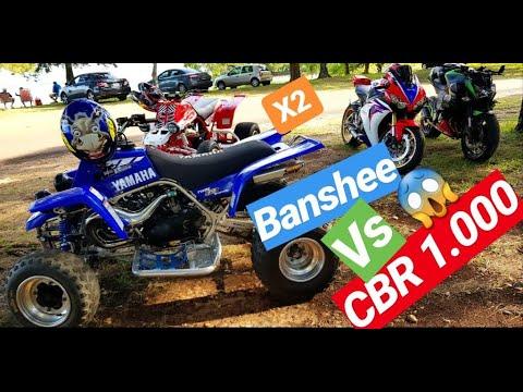 BANSHEE 350 X2 ! ! ! ⚡VS HONDA CBR 1000 HRC ! ! ! 😱 SALIMOS A DAR UNA VUELTA ! 😎😎😎