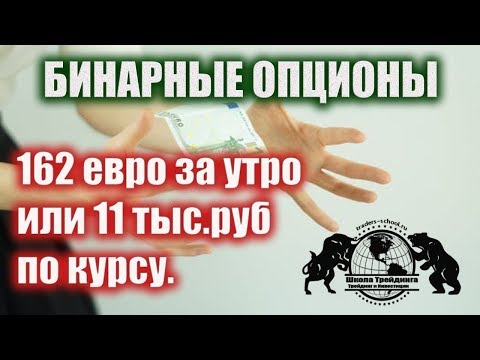 Бинарные Опционы - 162 евро за утро или 11 тыс.руб по курсу.