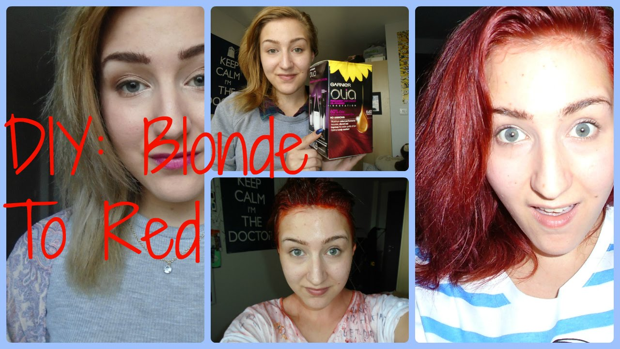 DIY Blond To Red Results And Review Olia 66 YouTube