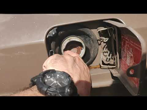 1985 MERCEDES 190e CLEANING OUT THE GAS TANK WITHOUT REMOVING TANK