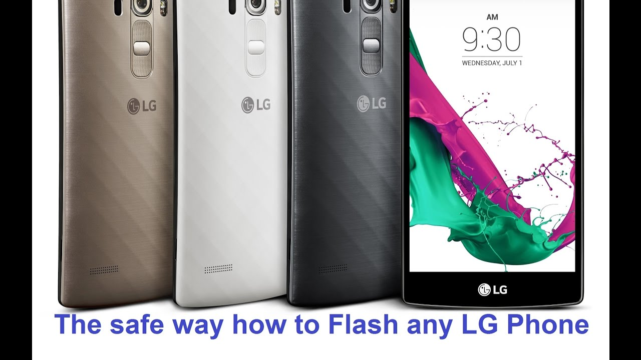 How to flash a LG phone