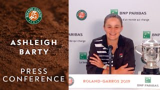 Ashleigh Barty - Press Conference after Women's Final Victory | Roland-Garros 2019